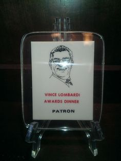 VINTAGE ,VINCE LOMBARDI AWARDS DINNER ACRYLIC PLAQUE,PRISTEEN,RARE ,QUIQUE, #GREENBAYLAMBEAUEFIELD #GreenBayPackers