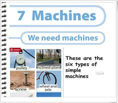 """Unidad 8 de Natural Science de 4º de Primaria: """"Machines"""" Inclined Plane, Simple Machines, Science And Nature, Natural, Teaching Resources, Unity, United States, Learning, Activities"""
