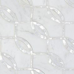 White Tile Backsplash, Kitchen Backsplash, Backsplash Ideas, Tile Ideas, Mother Of Pearl Backsplash, Glass Kitchen Cabinets, Kitchen Wallpaper, Bathroom Renovations, Beautiful Interiors