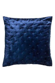 Aksamitna poszewka na poduszkę - Ciemnoniebieski - HOME | H&M PL