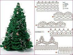 New crochet christmas free hooks ideas Crochet Christmas Wreath, Christmas Tree Pattern, Christmas Crochet Patterns, Crochet Ornaments, Crochet Snowflakes, Holiday Crochet, Christmas Crafts, Christmas Decorations, Crochet Decoration