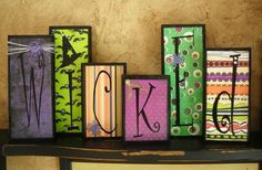 Some craft paper and modge poge--another wood block idea.  :) by Sacagawea