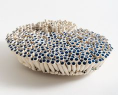 Peter Hoogeboom, Petrotubus caeruleus / Brachytubus cyanos, object, 2013, ceramiek, 2013.