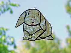 Stained Glass French Lop Rabbit Cartoon Lop Eared Bunny