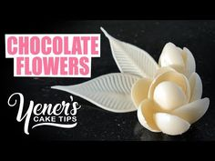 How to Make Simple CHOCOLATE FLOWERS Tutorial | Yeners Cake Tips with Se...