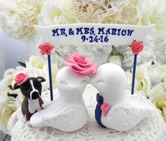 Reserved for Lina Wedding Cake Topper Love Birds by LavaGifts