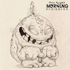 ...Glurble tried so hard not to giggle while playing hide and seek. His efforts were often futile. #morningscribbles