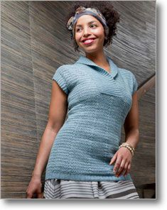 Lauren Sweater - This crochet sweater is easy to dress up or down! by Mimi Alelis