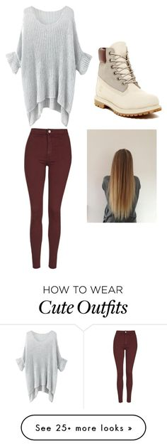 """""""cute outfit in the winter"""" by kellmam on Polyvore featuring mode, Topshop en Timberland"""