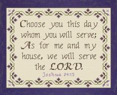 We Will Serve The Lord Joshua 24:15