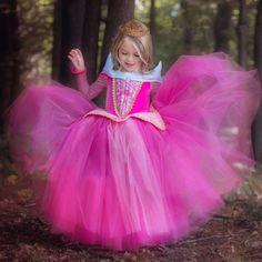 Princess Girl Dress up Costume For Kids fantasia menina Halloween Party Dresses Children Clothing Fancy Sleeping Beauty Dress Costume Rose, Aurora Costume, Aurora Dress, Elsa Dress, Tulle Dress, Gown Dress, Dress Lace, Rapunzel Costume, Dress Up