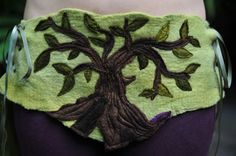 Felt Tree Of Life Bustle Corset Belt With Long Silk by frixiegirl, $227.00. Some really unusual felted pieces available from Frixiegirl on etsy.