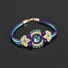 ... Soutache Bracelet, Soutache Pendant, Soutache Jewelry, Beaded Jewelry, Beaded Necklace, Shibori, Handmade Necklaces, Handmade Jewelry, Imitation Jewelry