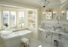 C.H. Newton Builders in MA. Victorian washstand and pivoting mirrors from Urban Archaeology