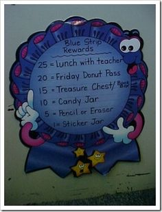 Blue Strip Chart Classroom Management. Easy to implement