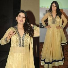 Anarkali in gold