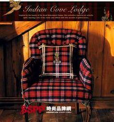 Ralph Lauren campy fabric chair