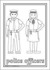 Ned. Versie!!! People who help us colouring sheets (SB5071) - SparkleBox