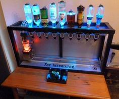 Great home bar idea!!! I want to make this!!!
