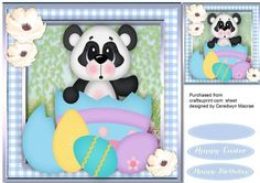 Cute Panda Out of the easter Egg  on Craftsuprint - Add To Basket!