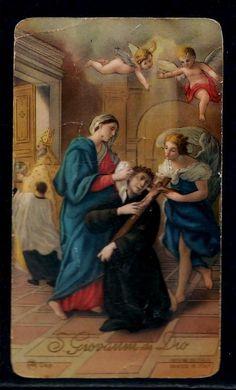 Vintage St. John of God holy card