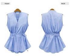 2016 New Summer Womens Blouses Fashion Style Sleeveless Chiffon Shirt V Collar Woman Blouses Shirts Solid Pleated Tops for Women Blouse Styles, Scarf Styles, Blouse Designs, African Blouses, Casual Skirt Outfits, Mode Hijab, Chiffon Shirt, Fashion Tips For Women, Ladies Dress Design