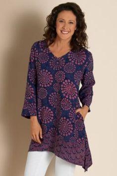 cb7862768be Batik Tunic - Starburst Print Tunic