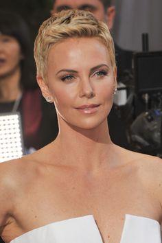 Charlize Theron hair at the Oscars