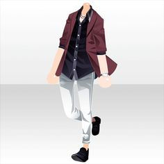Somewhat dressed up flannel + collared shirt outfit Manga Clothes, Drawing Clothes, Anime Outfits, Boy Outfits, Fashion Outfits, Fashion Design Drawings, Fashion Sketches, Anime Dress, Character Outfits