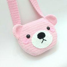 Kawaii Crochet, Crochet Disney, Crochet Bear, Crochet Gifts, Cute Crochet, Crochet Blanket Patterns, Crochet Motif, Crochet Stitches, Hello Kitty Crochet