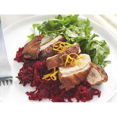 Roast duck with beetroot relish recipe - By recipes+