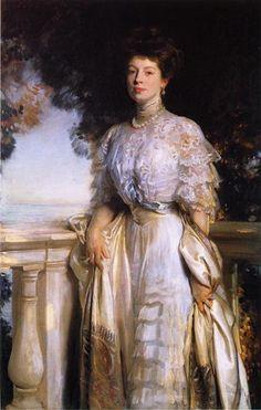 Mrs. Edward Deshon Brandegee, 1907 by John Singer Sargent. Realism. portrait. Private Collection