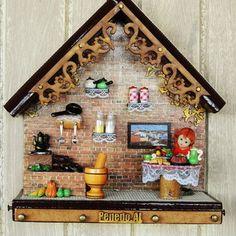 Elo7 | Produtos Fora de Série Diy Arts And Crafts, Creative Crafts, Diy Crafts, Wallpaper Pictures, Wood Accents, Miniature Fairy Gardens, Diy Dollhouse, Miniture Things, Clay Art