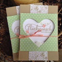 Stempeltrina: Karten zur Hochzeit...