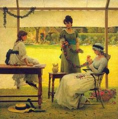 """""""The Garland"""", date unknown, by George Dunlop Leslie (British, 1835-1921)"""