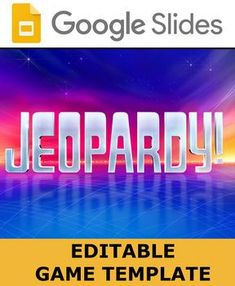 This Is A Google Slides Editable Jeopardy Game Template Great For Fun