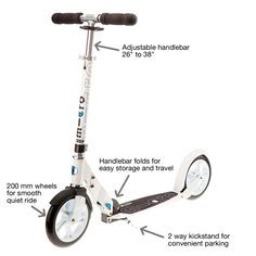 White Kick Scooter | Teen and Adult Kick Scooter from Kickboard USA | Kick Scooters by Micro®