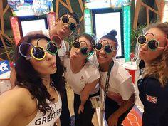 @teamgb Women's Artistic Gymnastics team rocking the Olympic rings shades ✌#Rio2016 #Olympics