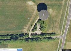 satellite photo of ufo - Google Search UFO or water tower?