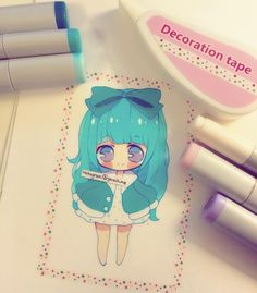 Oki I didnt find washi tape but I found this white-out that has dots on it :D i…