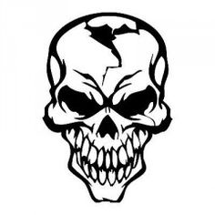 Aggressive brave cheeky skull car boot side window decal vinyl sticker boot_0034