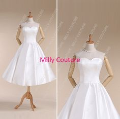 Simple short wedding dress vintage short wedding by MillyCouture, $149.00