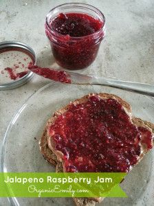 Jalapeno Raspberry Jam. Keep it sweet or make it spicy! It's great either way! By Organic Emily