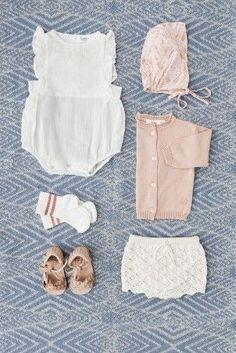 Tocotó Vintage | Oh! Such a sweet little newborn girl ensemble! https://www.romperbaby.com
