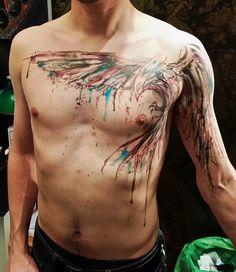 Brush Stroke Tattoo on Pinterest | Paintbrush Tattoo, Damask Tattoo ...