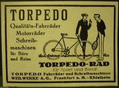 Torpedo,Fahrrad,Motorrad,Schreibmaschine,Weilwerke Frankfurt M.orig.Anzeige 1928 | eBay