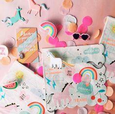 Rainbows and Unicorns Napkin | ShopPigment