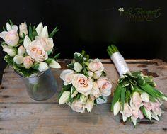 Flower girl rose and tulip bouquets by Le Bouquet | Le Bouquet Weddings | Weddings by Natalie www.lebouquet.com/weddings en français aussi
