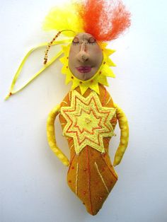 Sunshine Goddess Mountain Dolls One of a Kind Art by MountainDolls, $25.00