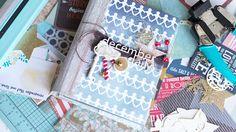 Декабрьский дневник, как сделать блокнот на пружинке в папке